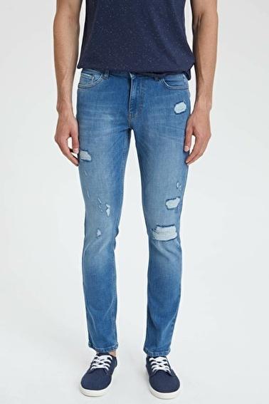 DeFacto Pedro Slim Fit Denim Pantolon Mavi
